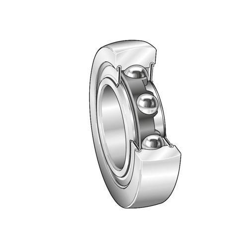 maximum rpm: INA (Schaeffler) LR608-2RSR Crowned & Flat Yoke Rollers