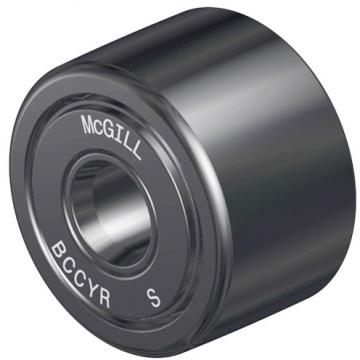 roller width: McGill BCCYR 1 1/4 S Crowned & Flat Yoke Rollers